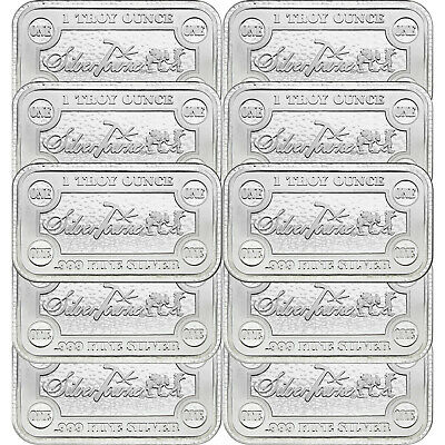 SilverTowne Money Bars 1oz .999 Silver Bar 10pc