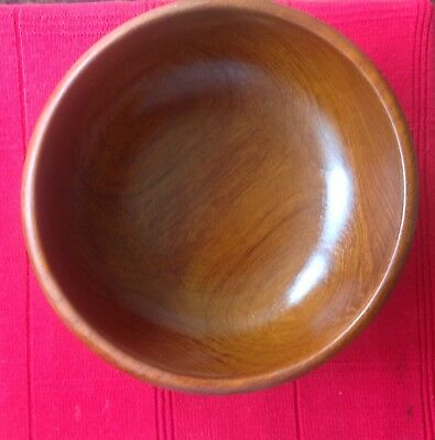 (PRICE REDUCTION FOR FAST SALE,)Mid Century Wooden  Bowl Vintage Teak Wood