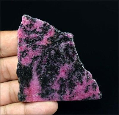 277.85 Cts. 100 % Natural Aaa Rhodonite Rough Slice For Making Cabochons