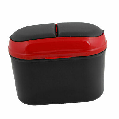 Black Red Plastic Trash Bin Garbage Container Holder Case for Vehicle Car