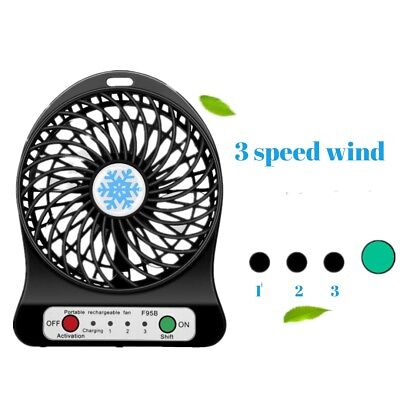 4 Vanes Portable Mini Table Fan 3 Speed Powerful Air Cooling Fan home/office