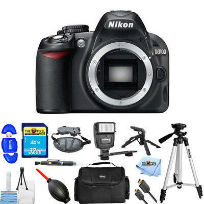 Nikon D3100 14.2MP Digital SLR Camera Black (Body Only) PRO BUNDLE BRAND NEW