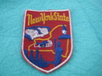 """Vintage State Of New York  sew on Patch 2"""" X 2 3/4 """""""