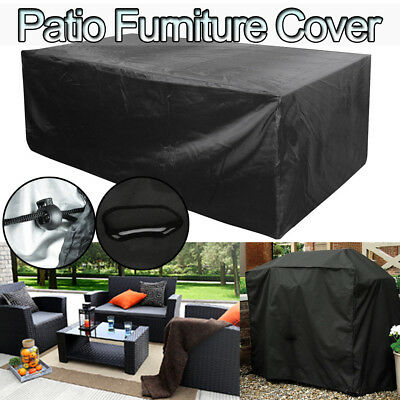Waterproof Patio Furniture Cover Rectangular Outdoor Table BBQ Grill Protector