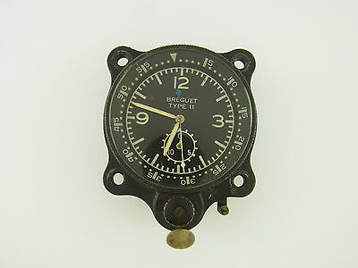 Original Breguet Type 11 Militär Uhr Borduhr Fliegeruhr military flight watch