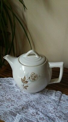 Vintage McCoy Teapot  with a Brown Rose