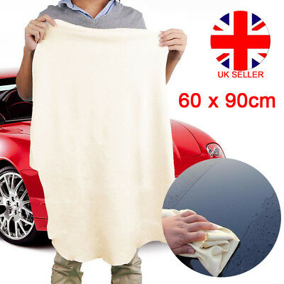 Extra Large Natural Chamois Leather Car Cleaning Cloth Washing Drying Towel L4U