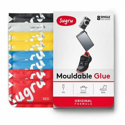 Sugru - Multi-Color 8-pack (Red, Blue, Yellow, Black & White) Air-Curing Rubber