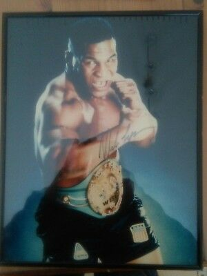 Mike tyson signed photo