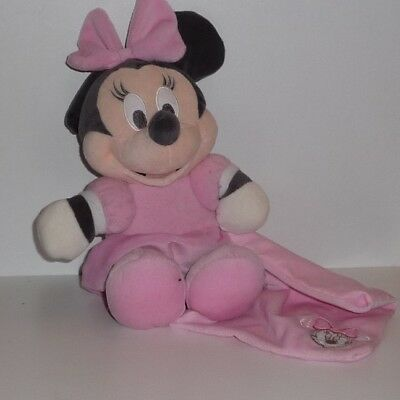Doudou Souris Minnie Disney - Mouchoir Rose