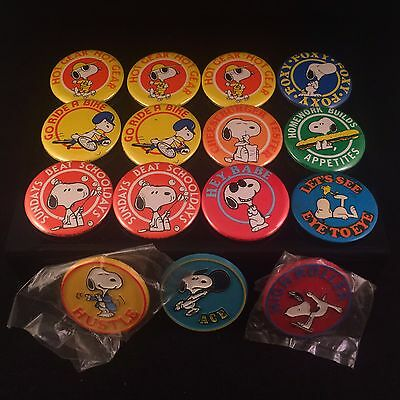 15 Snoopy Peanuts Vtg Butterfly Originals Collectible Rare Pin Pinback Lot