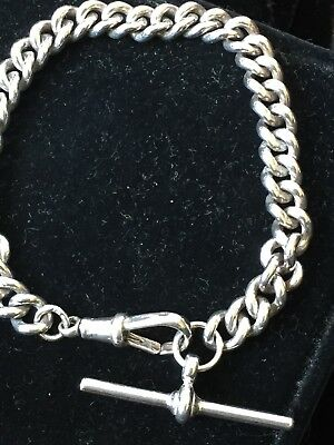Vintage pocket/ Watch chain silver 925 and hallmarks 19cm length weight 22.45 g