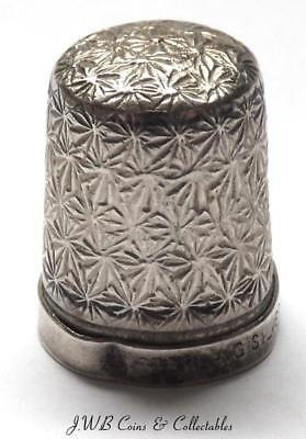 Antique Silver Thimble Stamped Sterling Silver