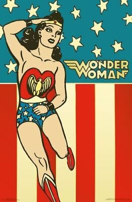 DC COMICS - VINTAGE STYLE ART POSTERS - BRAND NEW - 22x34 INCHES
