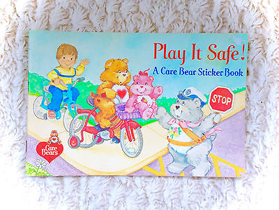 Complete Unused Vintage Care Bears Sticker Book Album 80s 1980s Pizza Hut 1984