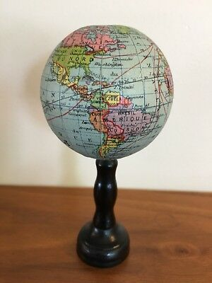 Petite Small Antique French World Globe