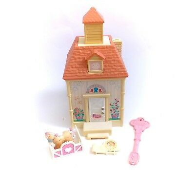 Vintage Precious Places Playset Complete Accessories Horse & Key Chapel Stable