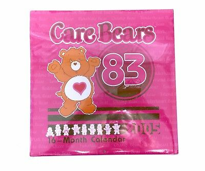 2005 Care Bear Collectable Calendar 1983 Vintage Themed Factory Sealed NEW Pink