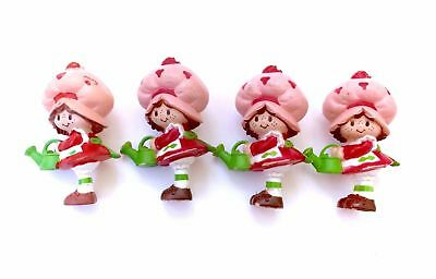 Vintage Strawberry Shortcake Lot of 4 PVC Mini Figure Figurine Watering Can 80s