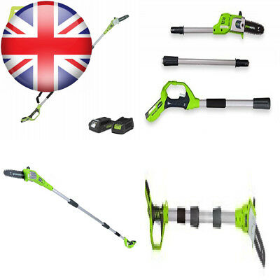"Greenworks 24V Cordless Polesaw 20cm (8"") with 2Ah battery and charger -..."
