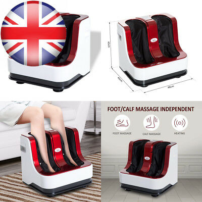 HOMCOM Portable Vibration Heating Electric Kneading Leg Therapy Foot...