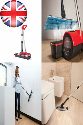 Polti Moppy Cordless Floor Cleaner with Steam, Red [Energy Class A]