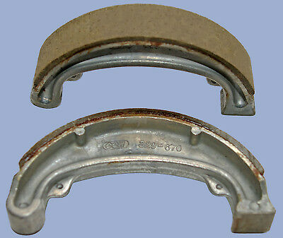 Honda XL250S front brake shoes (1978-1982) new pair 140mm x 25mm