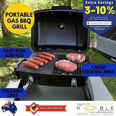 Gasmate Portable Gas BBQ Grill Compact Outdoor Camping Propane Stainless Steel