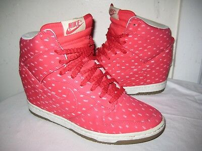 72967cbb7cff NIKE DUNK SKY Hi Size 9 Women s Shoes Hidden Wedge 543258 600 Rare ...