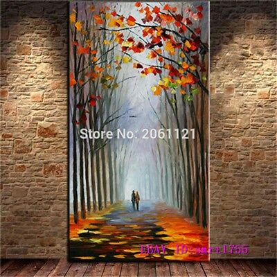 Modern Abstract hand-painted Art Oil Painting Wall Decor canvas 24x48   #03