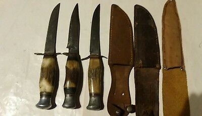 Vintage Knives Deer Horn Handle  (3)