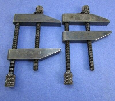 STARRETT  161 C  Toolmarkers Parallel Clamps; 1 Pair; no owners marks; Machinist
