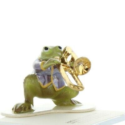 Trombone Playing Frog from Toadally Brass Band Made in USA by Hagen-Renaker
