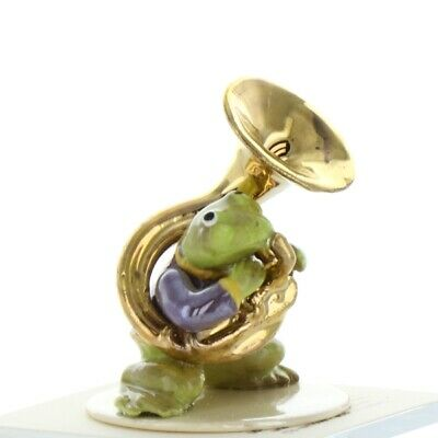 Tuba Playing Frog from Toadally Brass Band Made in America by Hagen-Renaker