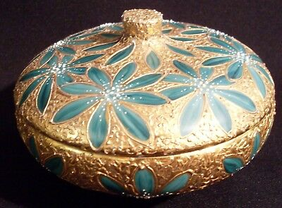 Russel Wright Iroquois Casual China Sugar Bowl Anna Vari Heavy Gold Paint