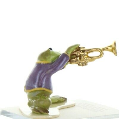 Trumpet Playing Frog from Toadally Brass Band Made in America by Hagen-Renaker