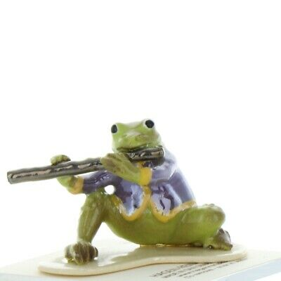 Flute Playing Frog from Toadally Brass Band Made in America by Hagen-Renaker