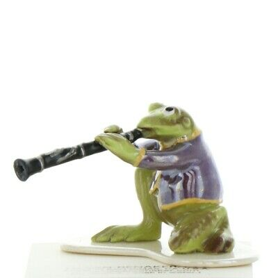 Clarinet Playing Frog from Toadally Brass Band Made in USA by Hagen-Renaker