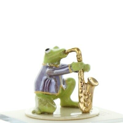 Saxophone Playing Frog from Toadally Brass Band Made in USA by Hagen-Renaker