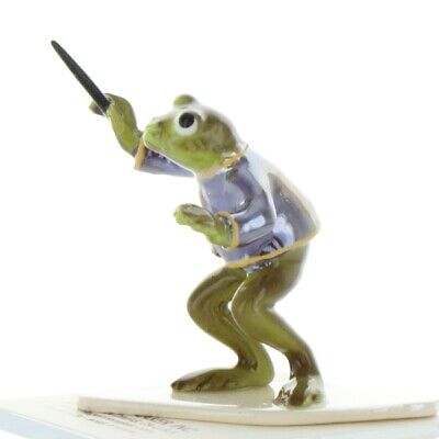 The Conductor Frog from Toadally Brass Band Made in America by Hagen-Renaker