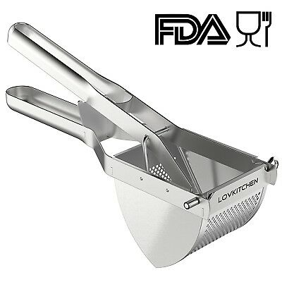 Potato Ricer/Masher -Premium Stainless Steel Baby Food Strainer, Fruit Masher