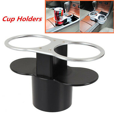 New Universal Double Cup Bottle Base Holder Car Seat Dual Wedge Beverage Stand