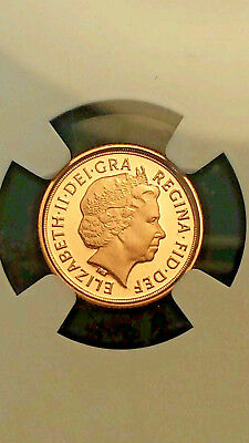 2009 Great Britain 1/4 Sovereign Gold Proof 70 Ultra Cameo Perfect Ngc Coa Nice!