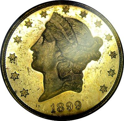 1899-s $20 GOLD LIBERTY   +++ CERTIFIED NGC MS-61 PROOFLIKE +++