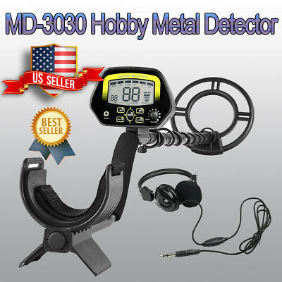 MD-3030 Waterproof Metal Detector Sensitive Search Treasure Hunter W/ Headphone