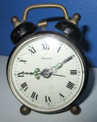 Vintage Blessing Double Bell Alarm Clock Wind up West Germanymade Not Working