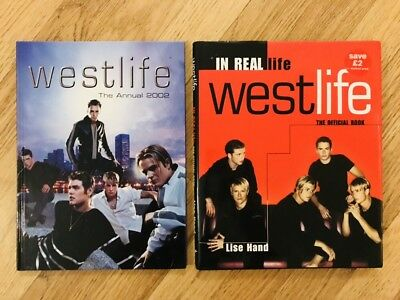 2 X Westlife Official Books And Annuals Rare