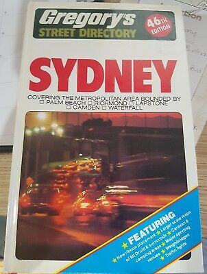 Gregory's Sydney Street Directory 1981 vintage 46th edition Ampol. As New!!