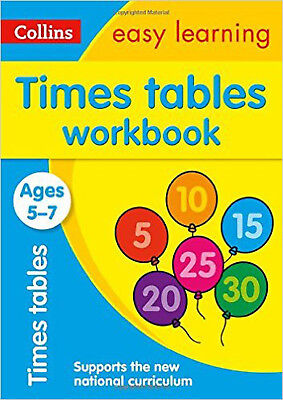 Times Tables Workbook Ages 5-7: New Edition (Collins Easy Learning KS1), New, Co