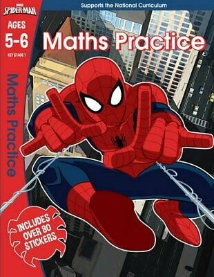 Spider-Man: Maths Practice, Ages 5-6 (Marvel Learning) by Scholastic, Book The